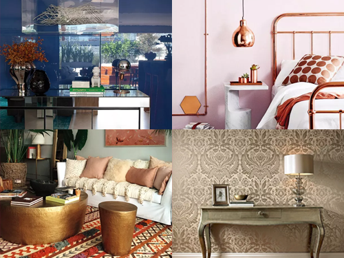A tríade prata, dourado e cobre já é um detalhe certeiro há tempos na moda da casa.